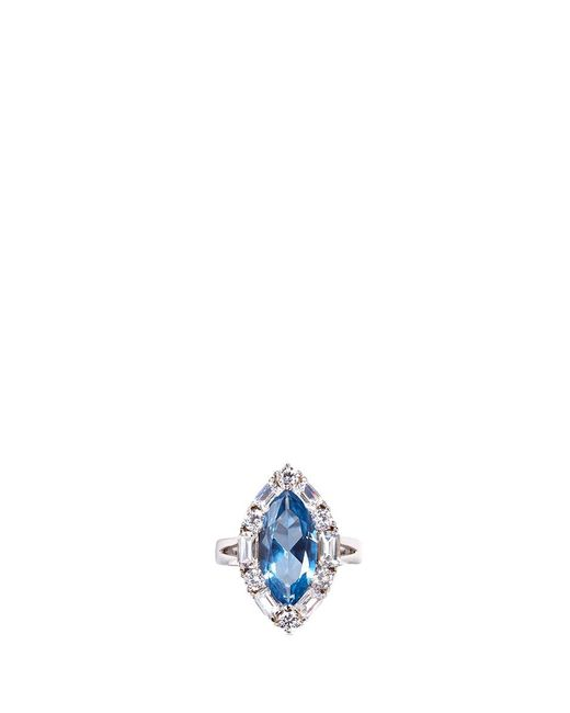 CZ by Kenneth Jay Lane | Metallic Cubic Zirconia Marquise Ring | Lyst