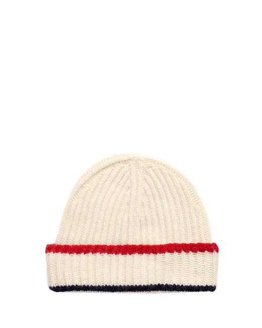 Maison Kitsuné   White Baby Alpaca Blend Knit Beanie   Lyst