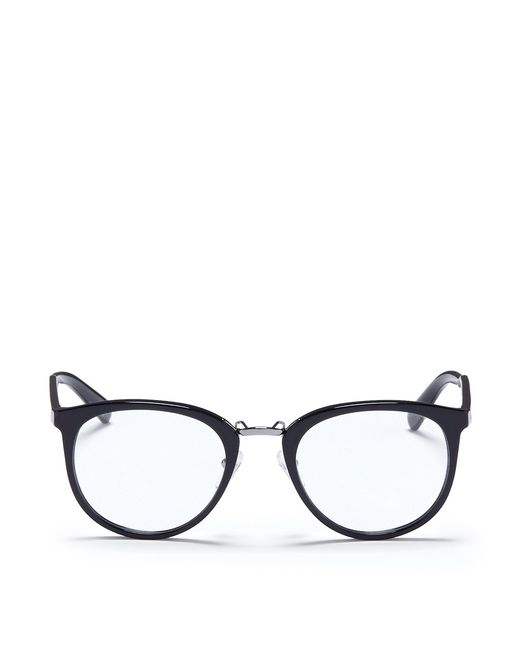 Prada | Pink Round Acetate Optical Glasses | Lyst