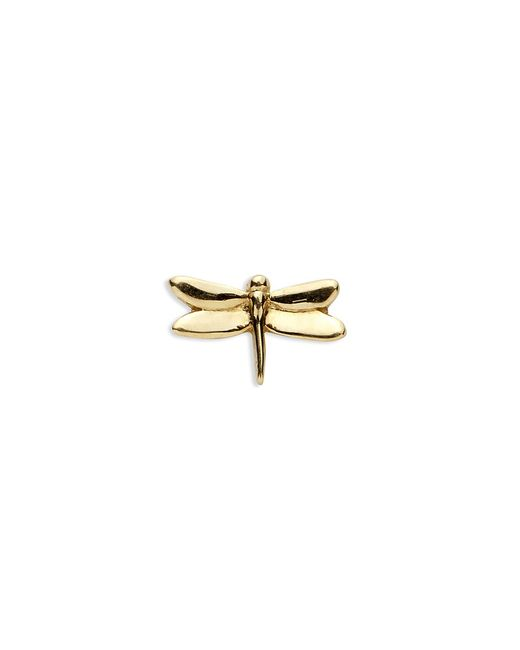 Loquet London | Metallic 18k Yellow Gold Dragonfly Charm - Strength | Lyst