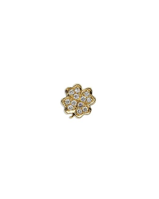 Loquet London | Metallic 18k Yellow Gold Diamond Four Leaf Clover Charm - Luck | Lyst