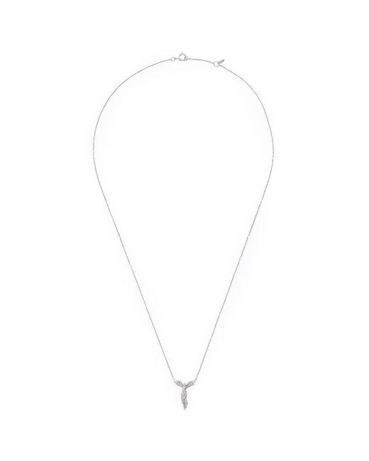 Bao Bao Wan   Metallic 'alto' Diamond 18k White Gold Angel Pendant Necklace   Lyst