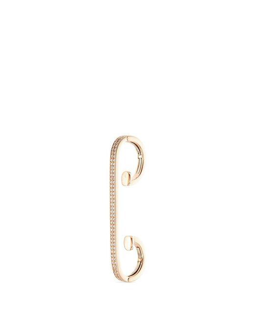 Repossi | Metallic 'staple Small Round' Diamond 18k Rose Gold Ear Cuff | Lyst
