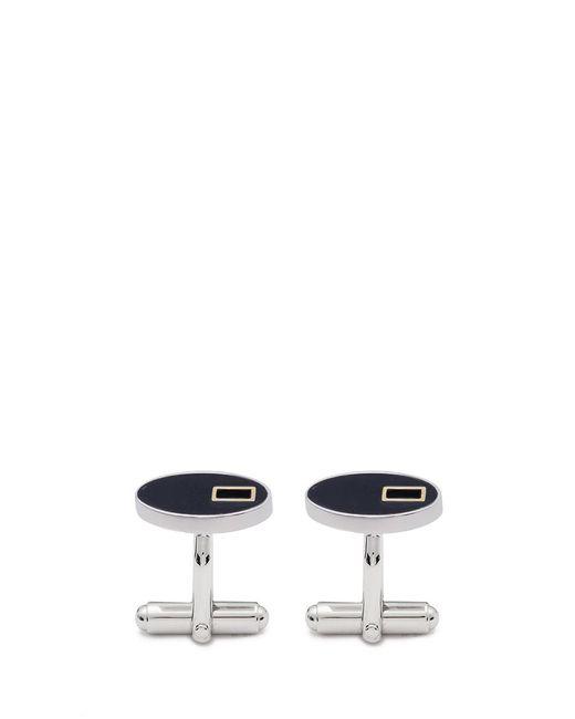 Lanvin   Metallic Oval Cufflinks for Men   Lyst