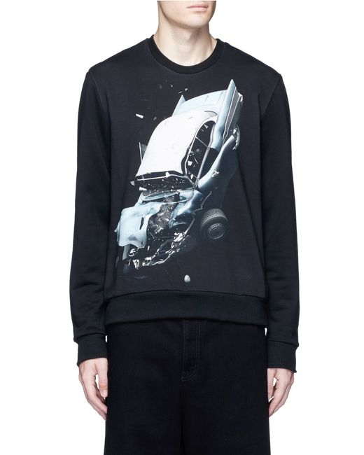 Christopher Kane | Black Car Crash-print Sweatshirt for Men | Lyst