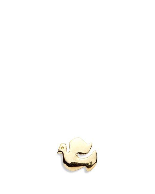 Loquet London | Metallic 14k Yellow Gold Dove Single Earring - Spread Your Wings | Lyst