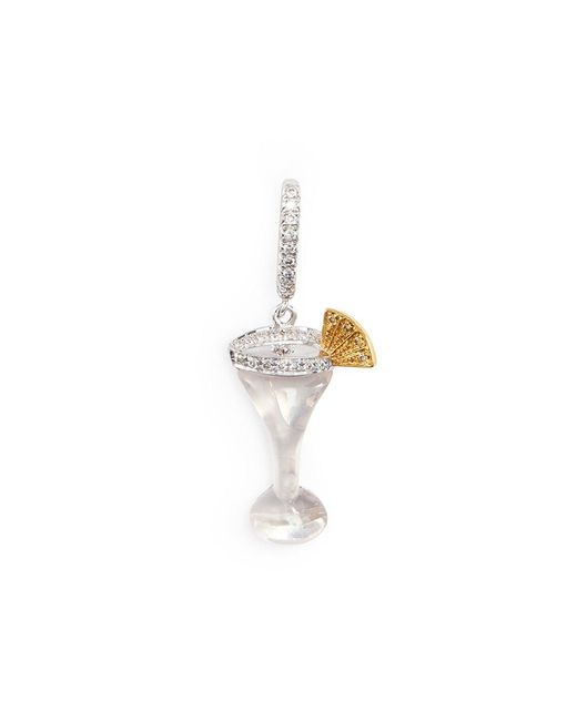 Bao Bao Wan | Metallic Diamond 18k Gold Martini Charm Pendant | Lyst
