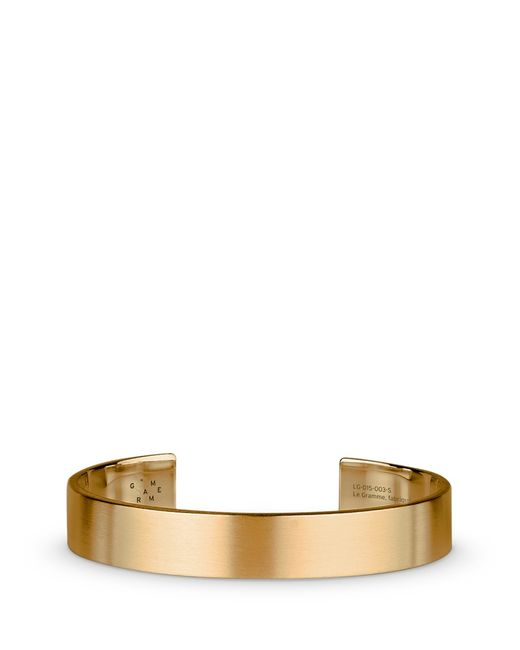 Le Gramme | Metallic 'le 33 Grammes' Brushed 18k Yellow Gold Cuff | Lyst