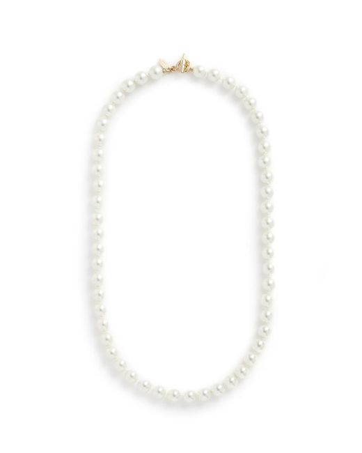 Kenneth Jay Lane   White Glass Pearl Strand Necklace   Lyst