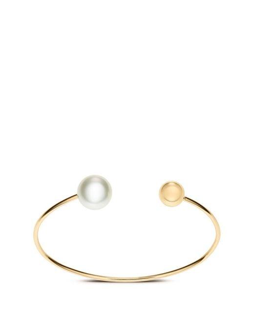 Sophie Bille Brahe | Metallic 'deesse Petite Perle' 14k Yellow Gold Pearl Cuff | Lyst