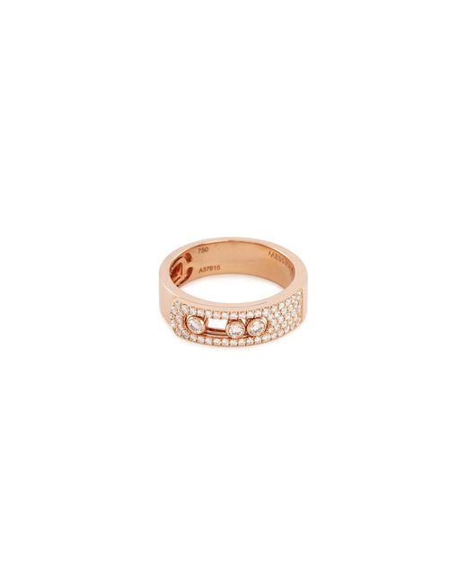 Messika - Metallic 'move Noa Pavé' Diamond 18k Rose Gold Ring - Lyst
