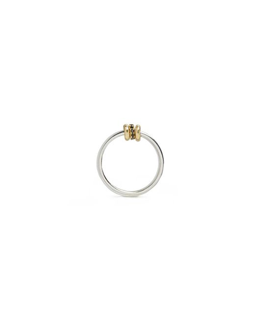Spinelli Kilcollin - Metallic 'sirius Sg' Diamond 18k Yellow Gold Silver Ring - Lyst