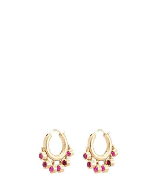 Elizabeth and James - Multicolor 'ansley' Ruby Fringe Hoop Earrings - Lyst