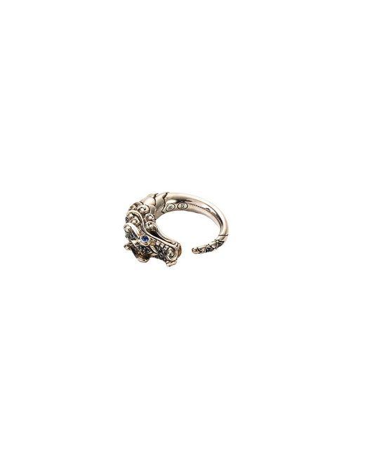 John Hardy - Metallic Sapphire Spinel 18k Yellow Gold And Silver Naga Ring - Lyst