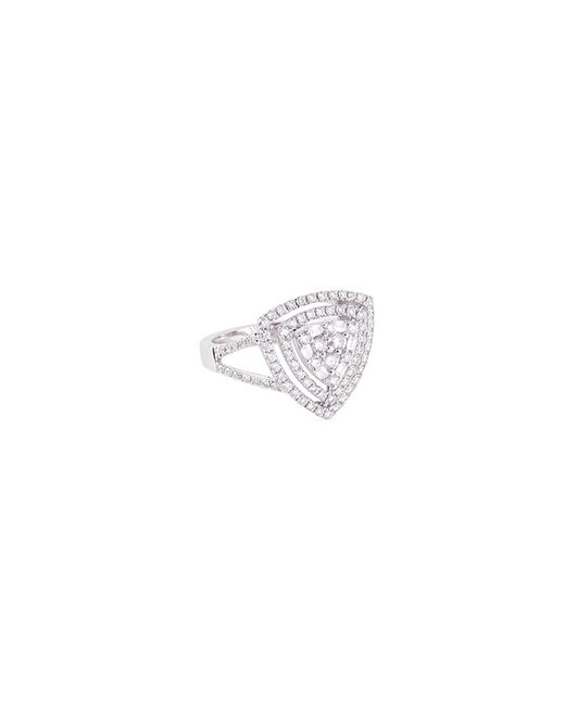 LC COLLECTION - Metallic Diamond 18k Gold Triangle Cutout Ring - Lyst