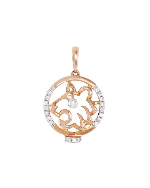 LC COLLECTION | Metallic Diamond 18k Rose Gold Chinese Zodiac Pendant - Tiger | Lyst