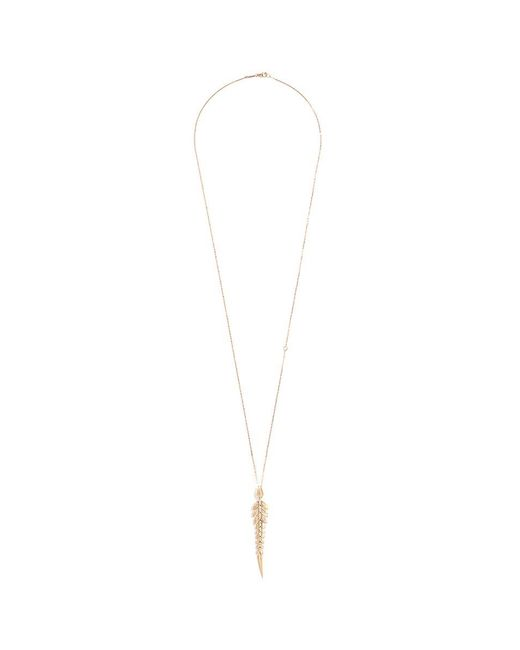 Stephen Webster - Metallic Diamond 18k Yellow Gold Feather Pendant Necklace - Lyst