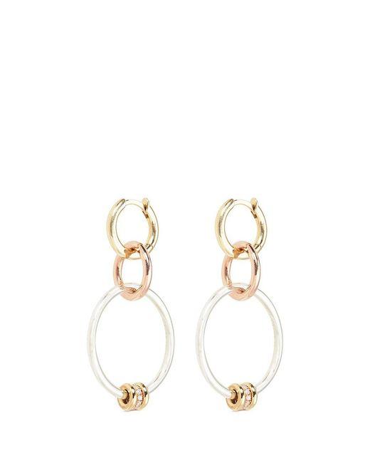 Spinelli Kilcollin | Metallic 'rona Mx' Diamond 18k Yellow And Rose Gold 3 Link Earrings | Lyst