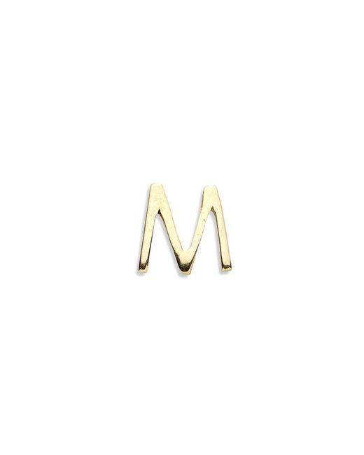 Loquet London - Metallic 18k Yellow Gold Letter Charm - M - Lyst