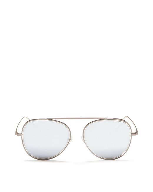 Stephane + Christian | Metallic 'h.906' Aviator Metal Mirror Sunglasses for Men | Lyst