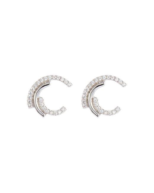 CZ by Kenneth Jay Lane - Metallic Cubic Zirconia Swirl Stud Earrings - Lyst