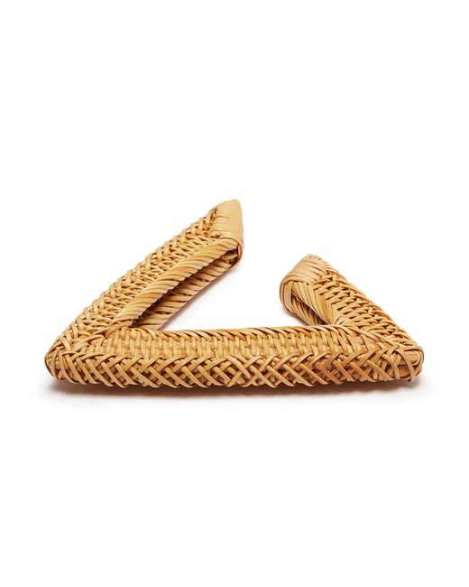 Cult Gaia Jane triangular woven-straw bangle cEnbJHLTe