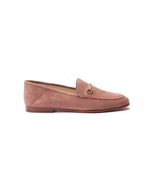 5811809c4974 Sam Edelman  loraine  Horsebit Suede Step-in Loafers in Pink - Lyst