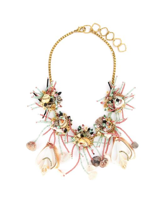 Erickson Beamon - Multicolor 'enchanted World' Glass Crystal Seashell Bead Bib Necklace - Lyst