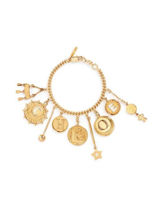 Chloé | Metallic 'coins' Logo Charm Bracelet | Lyst