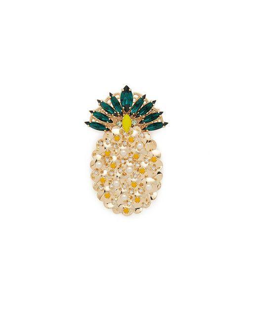 Anton Heunis | Metallic 'ananas' Swarovski Crystal Pearl Pineapple Brooch | Lyst
