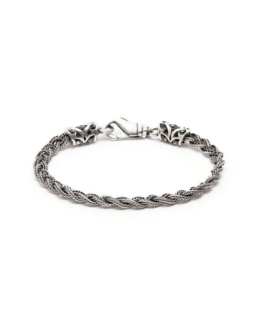 Emanuele Bicocchi - Metallic Tiny Braided Silver Bracelet for Men - Lyst