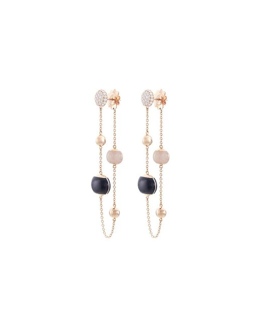 Roberto Coin - Metallic Diamond Jade 18k Rose Gold Beaded Chain Drop Earrings - Lyst