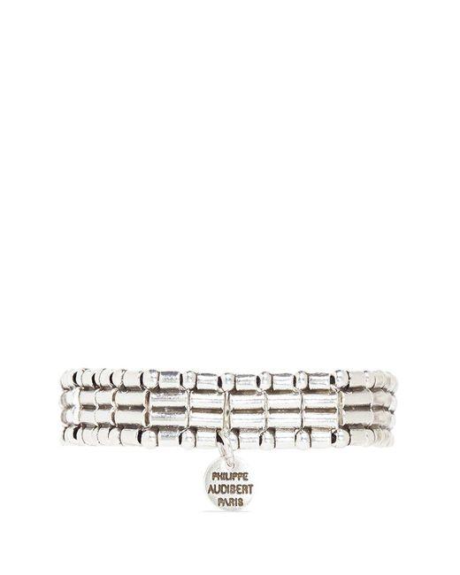 Philippe Audibert | Metallic Mixed Bead Elastic Bracelet | Lyst