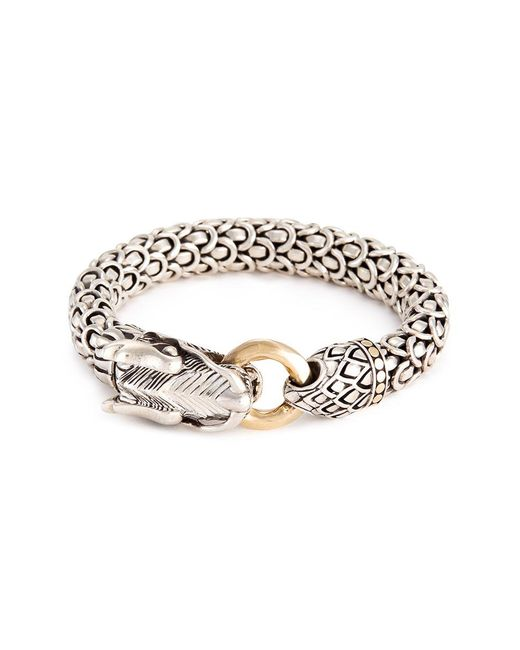 John Hardy - Metallic 18k Gold Silver Large Scaly Dragon Bracelet - Lyst