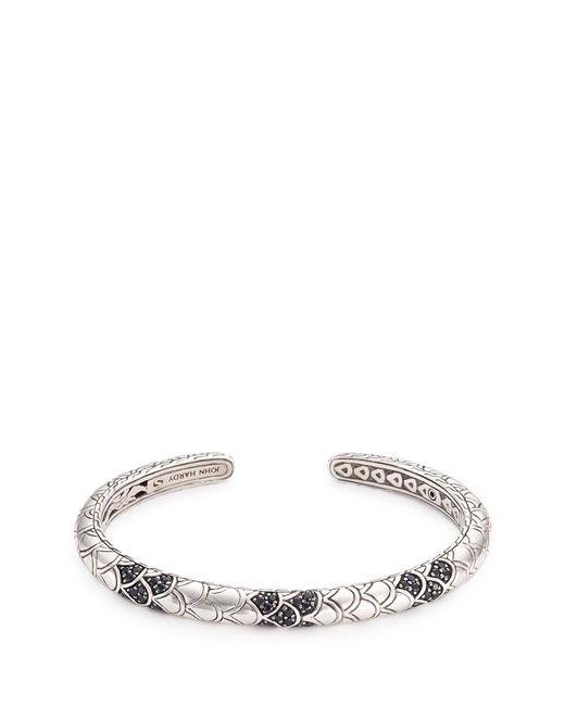 John Hardy | Metallic Sapphire Silver Scaly Naga Cuff | Lyst
