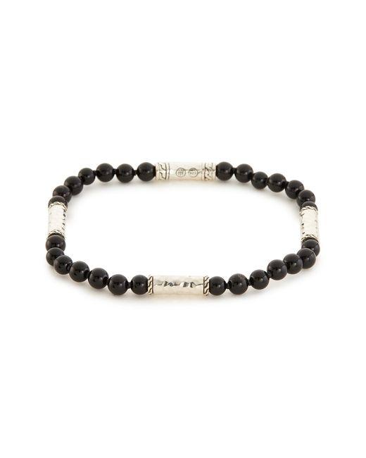 John Hardy - Metallic Onyx Silver Bead Bracelet for Men - Lyst