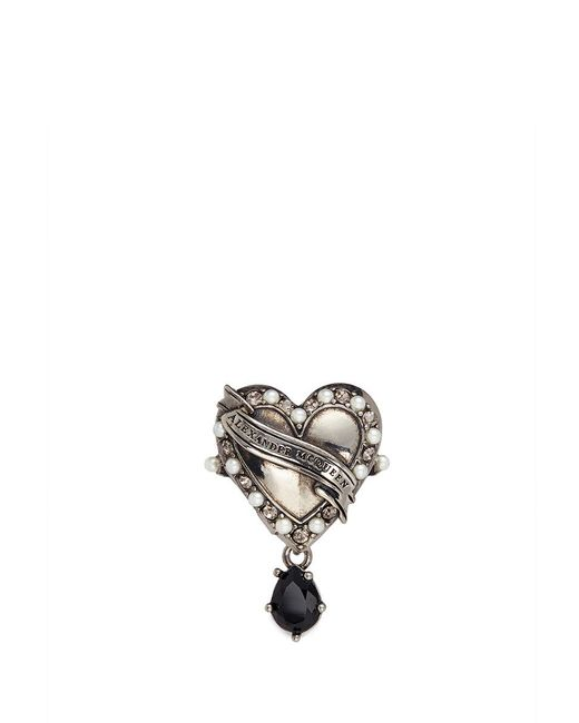 Alexander McQueen | Metallic 'heart Locket' Ring | Lyst