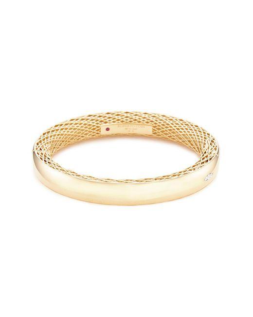 Roberto Coin - Metallic 'golden Gate' Diamond 18k Gold Bangle - Lyst