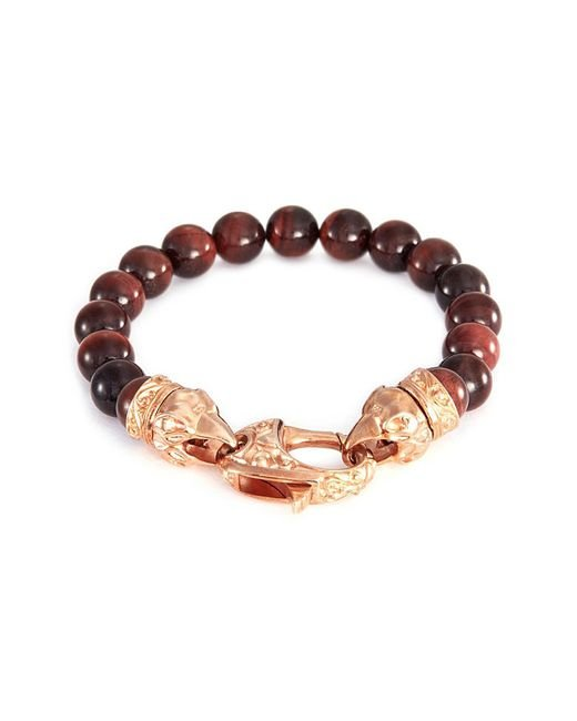 Stephen Webster - Metallic 'beasts Of London Raven Head' Bullseye Bead Bracelet for Men - Lyst