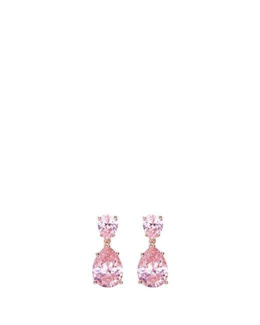 CZ by Kenneth Jay Lane - Pink Cubic Zirconia Pear Drop Earrings - Lyst