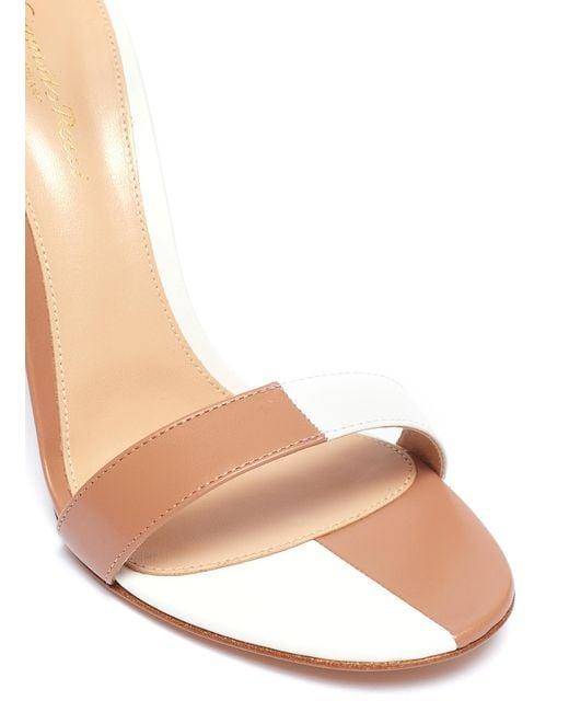 41e63b45037 ... Gianvito Rossi - Multicolor  dama  Colourblock Ankle Strap Leather  Sandals for Men ...
