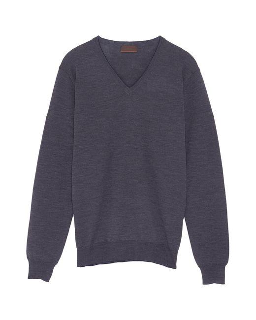 Altea - Gray Contrast Elbow Patch Virgin Wool Sweater for Men - Lyst