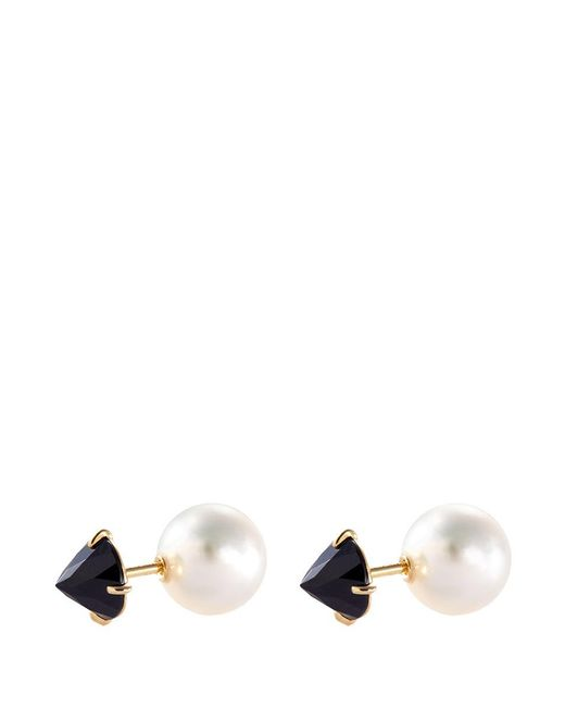 Tasaki | Metallic 'refined Rebellion Signature' Akoya Pearl Spinel Earrings | Lyst