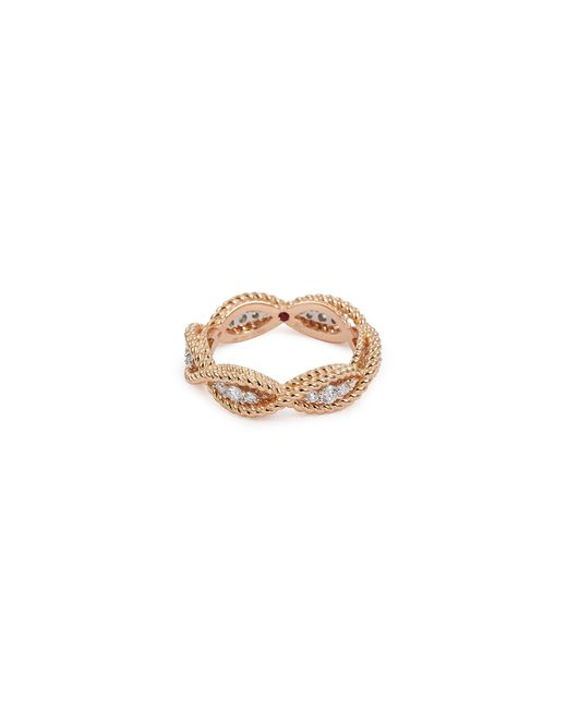 Roberto Coin - Metallic 'new Barocco' Diamond 18k Rose Gold Ring - Lyst
