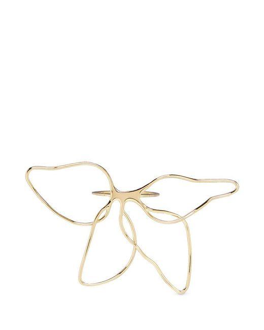 Elizabeth and James | Metallic 'zada' Cutout Floral Petal Ring | Lyst