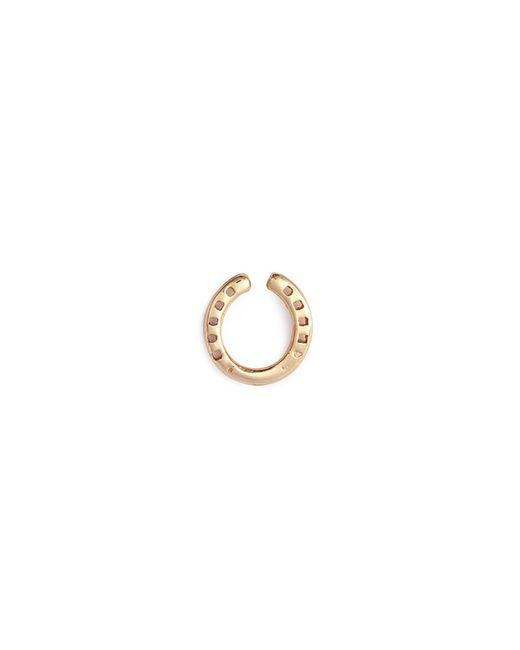 Loquet London - Metallic 'horseshoe' 14k Yellow Gold Single Stud Earring – Protection - Lyst
