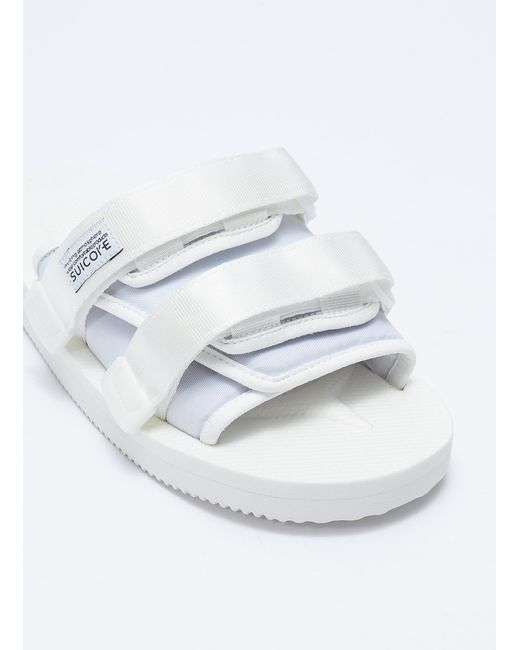 56f7babbd61 ... Lyst Suicoke - White  moto-cab  Strappy Band Slide Sandals for Men ...
