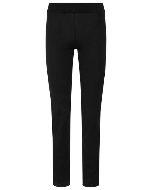 La Perla | Black Stretch Silk Trouser | Lyst