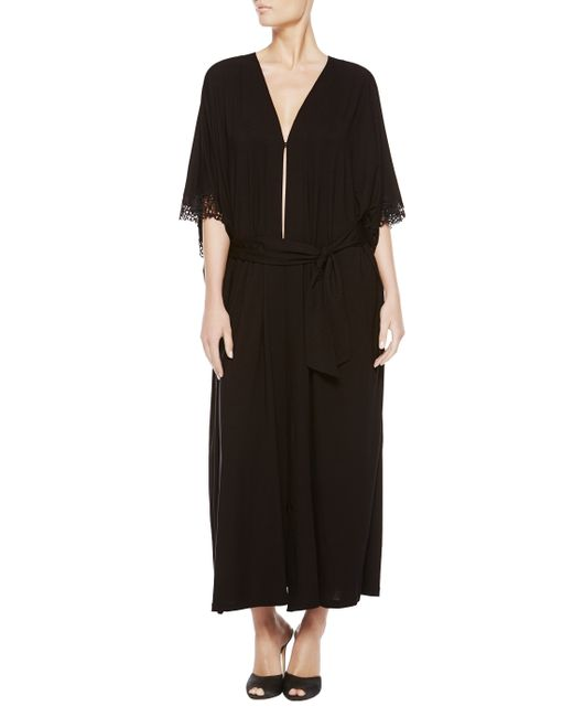 La Perla | Black Long Night Robe | Lyst