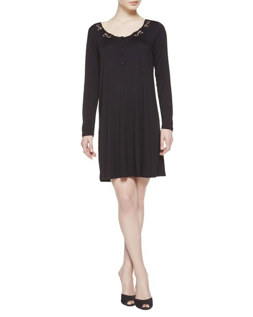 La Perla | Black Night Dress | Lyst